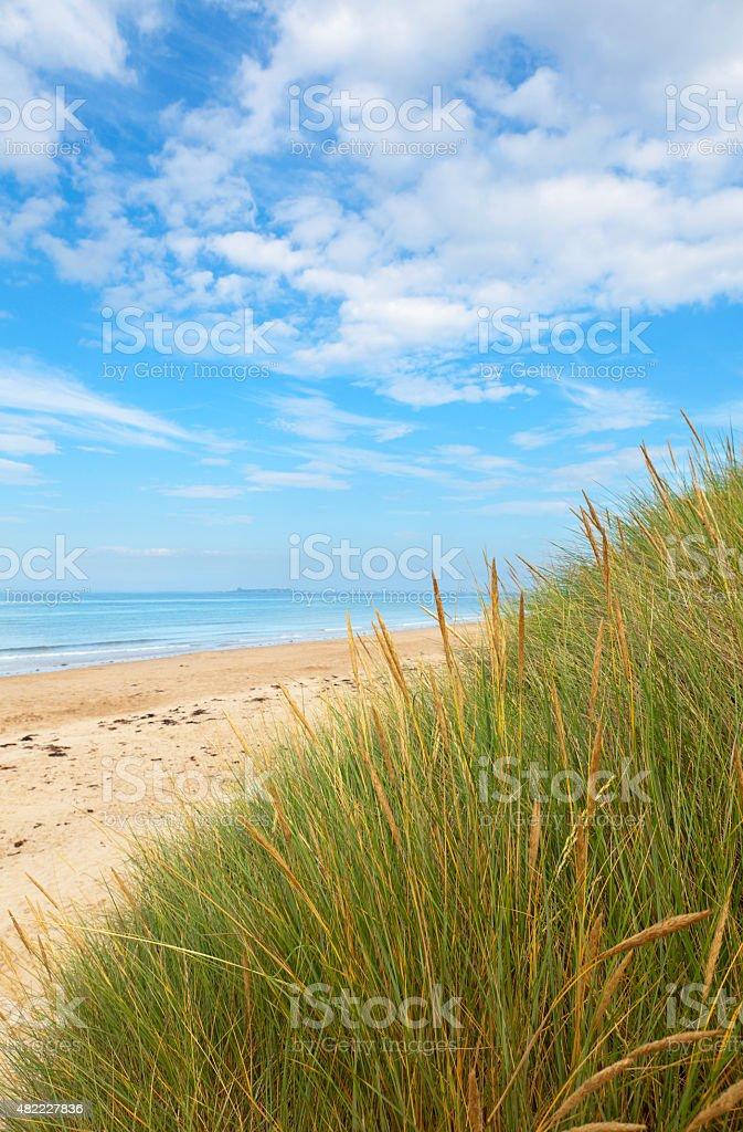 Northumberland coastline stock photo