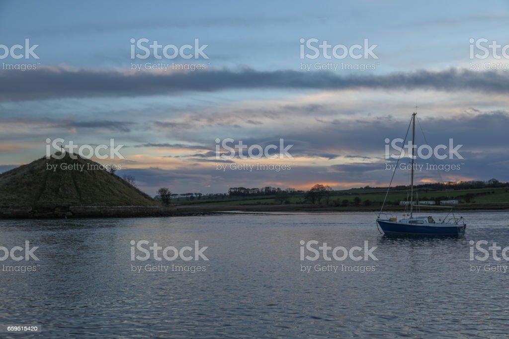Northumbrian Beach Scenes stock photo