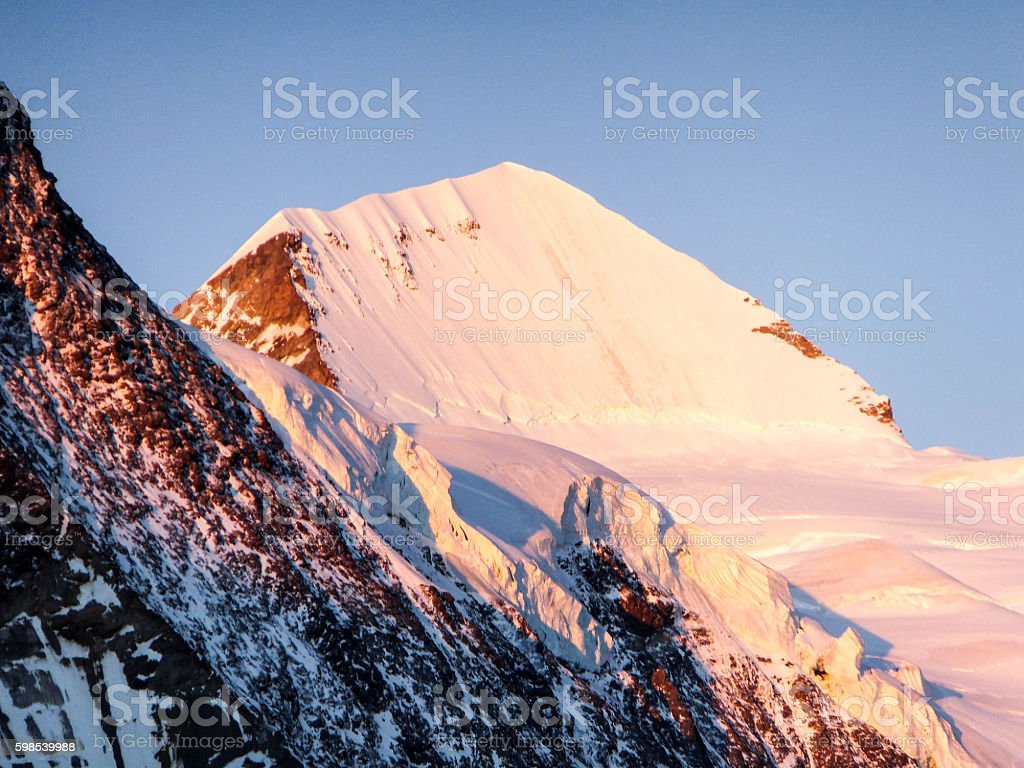 northwest face of Mönch in the Swiss Alps photo libre de droits