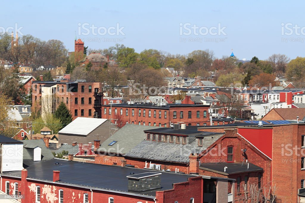 Northwest Lancaster, PA cityscape stock photo