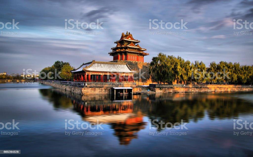 Northwest Wall of Forbidden City, Beijing China stock photo