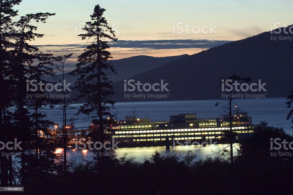 Northwestern ferry stock photo