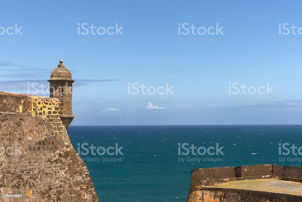 Northwestern lookout tower with ocean view. royalty-free stock photo