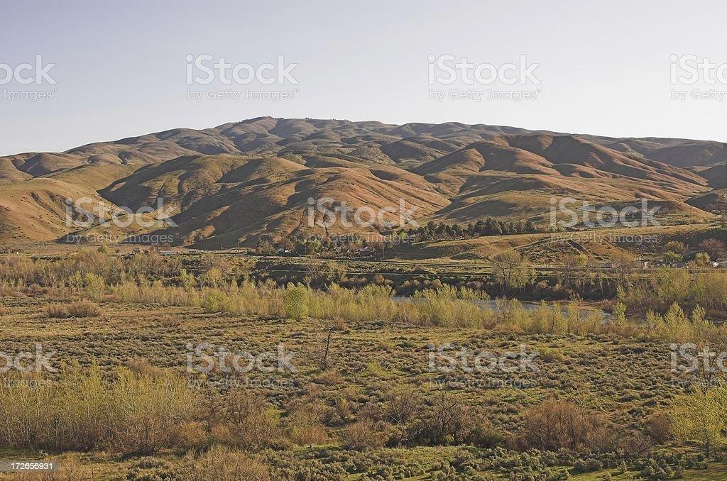 Northwestern spring landscape royalty-free stock photo