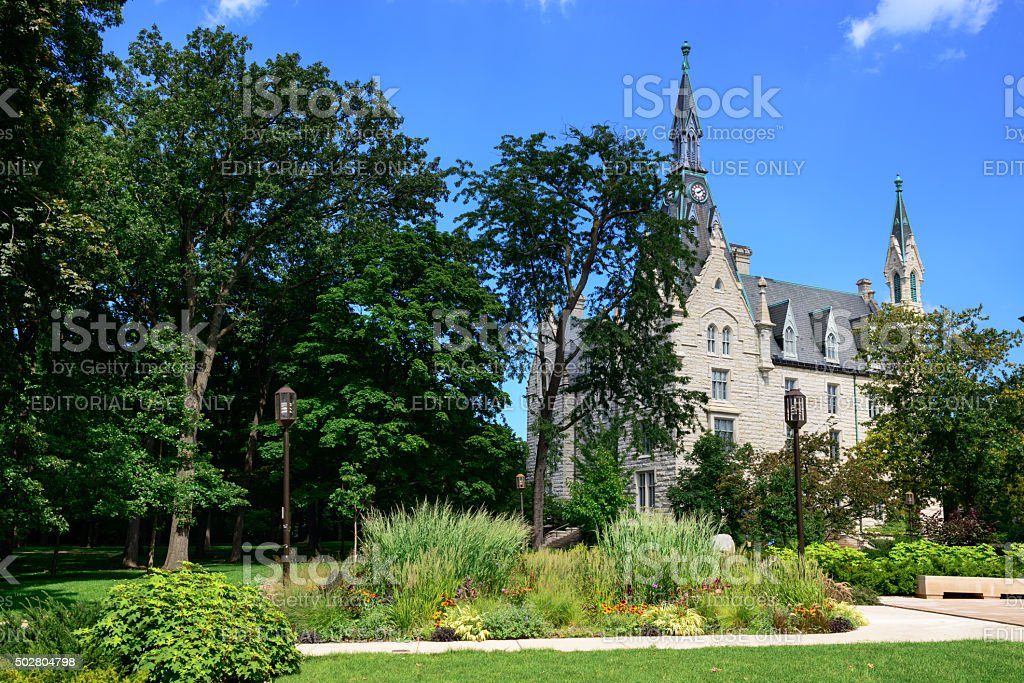 Northwestern University Hall, Evanston stock photo