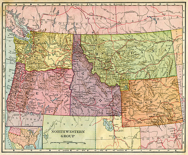 Pacific Northwest Map Pictures Images And Stock Photos IStock - Northwestern us map