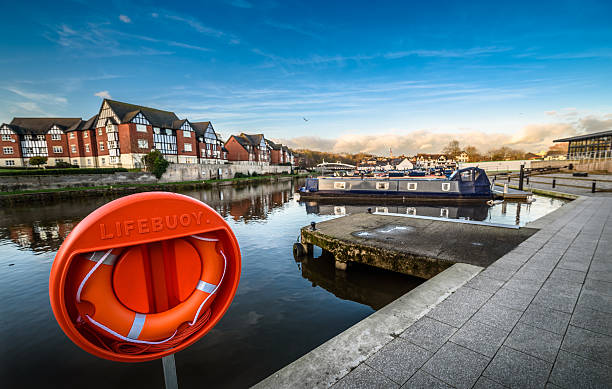 Northwich Marina stock photo