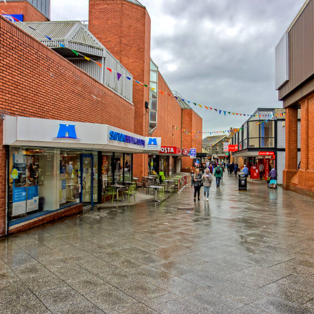 Northwich Town Center stock photo