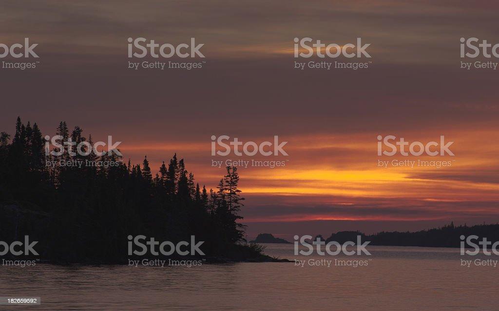 Northwoods Sunset royalty-free stock photo