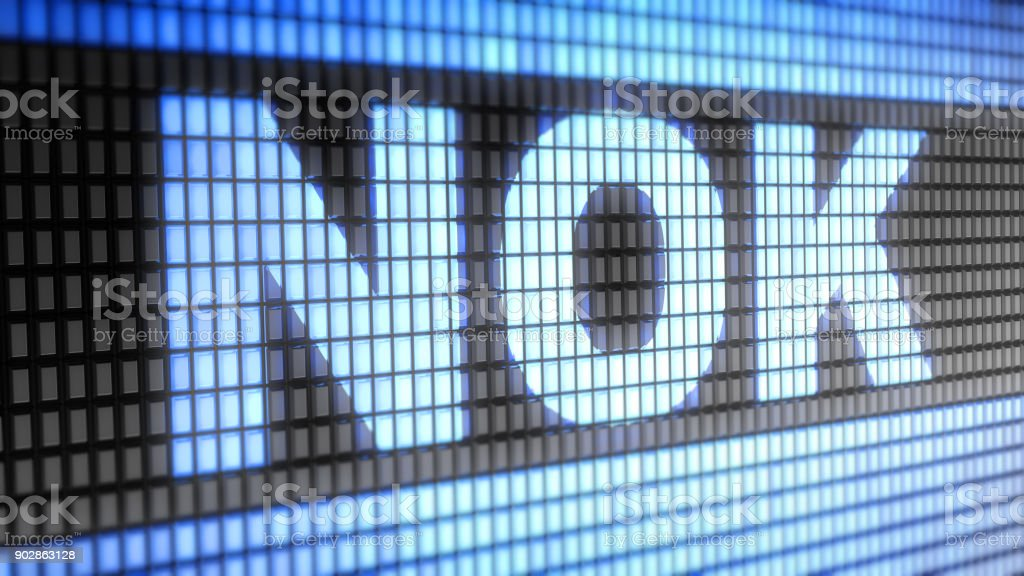 Norvegian krone sign on the Screen. stock photo