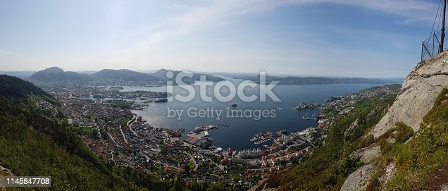 1130689824 istock photo Norway - Bergen seen from above 1145847708