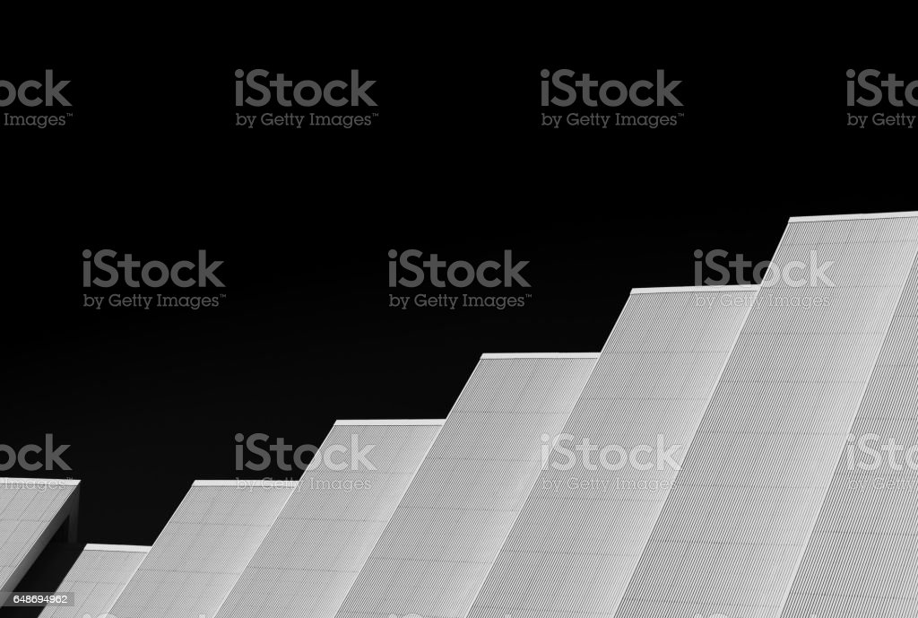Norway black and white church design background stock photo
