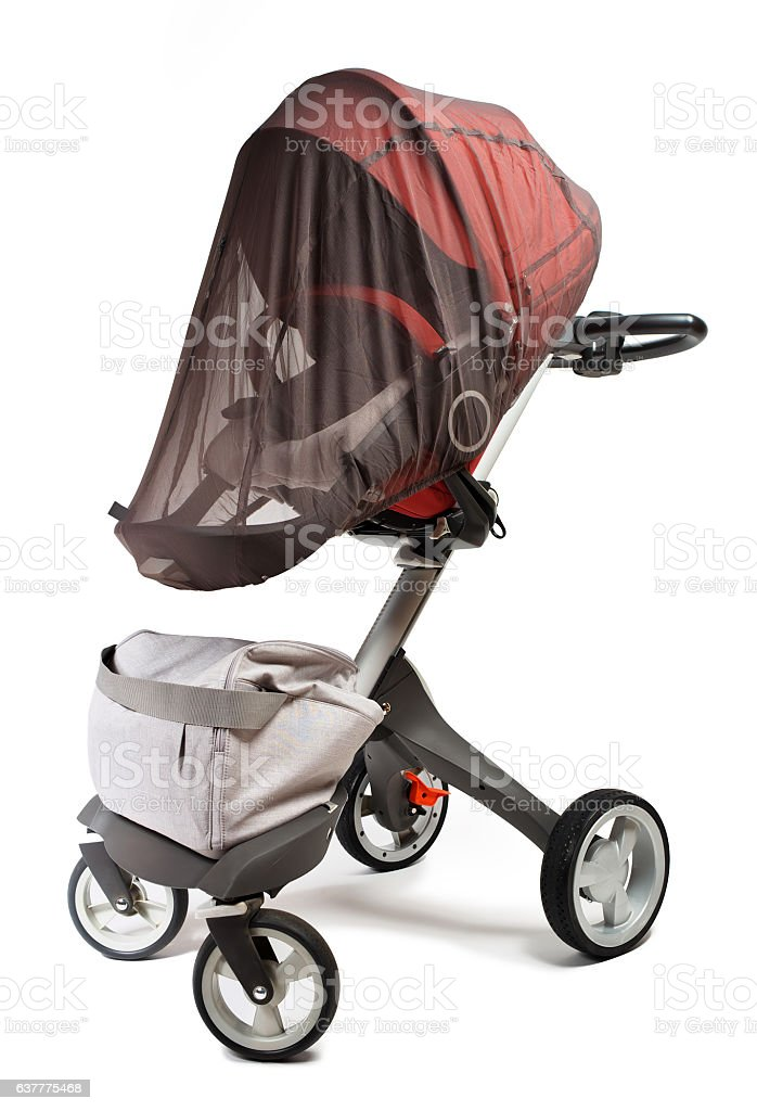 Norway elite baby carriage isolated on a white background royalty-free stock photo