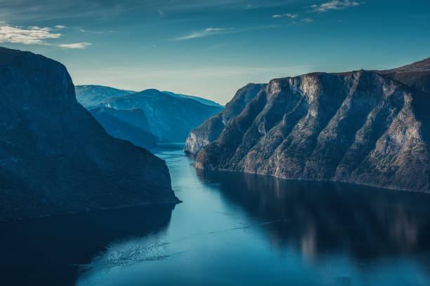 Norway fjord landscape stock photo