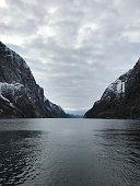 Norway fjords, mountains, sea