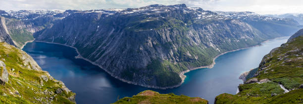 Norwegen Fjord Trolltunga Panoramablick – Foto
