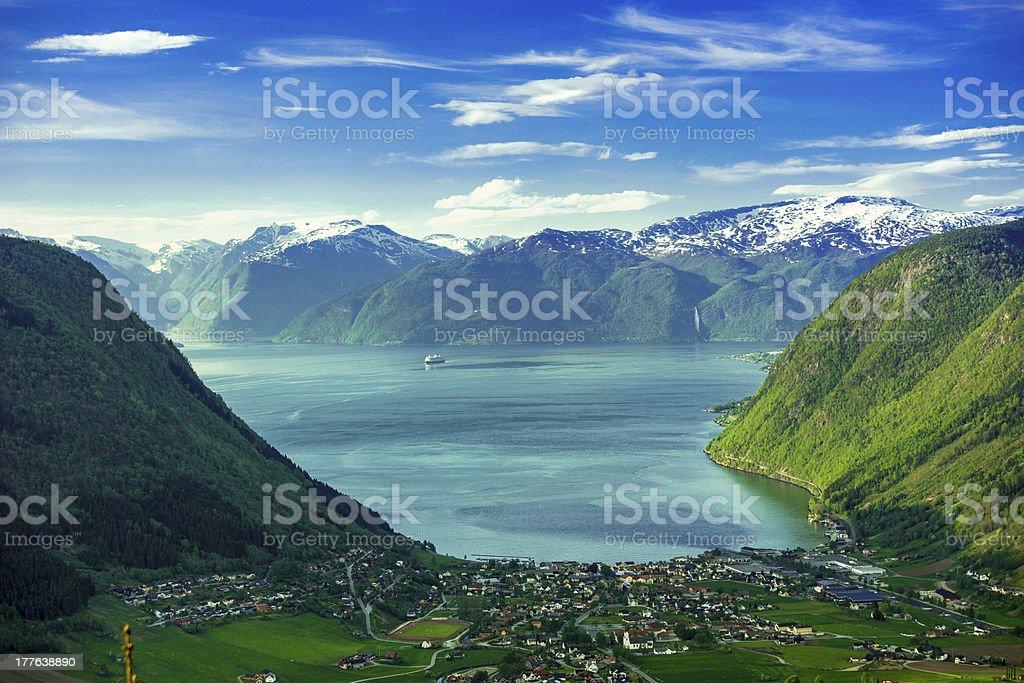 Norway Fjord Valley stock photo