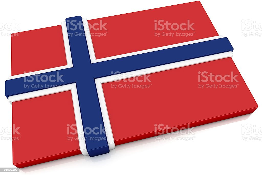 3D Norway Flag Button royalty-free stock photo
