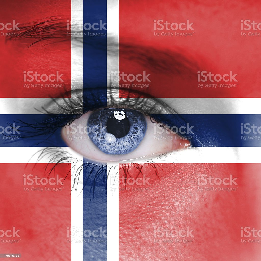 Norway flag royalty-free stock photo