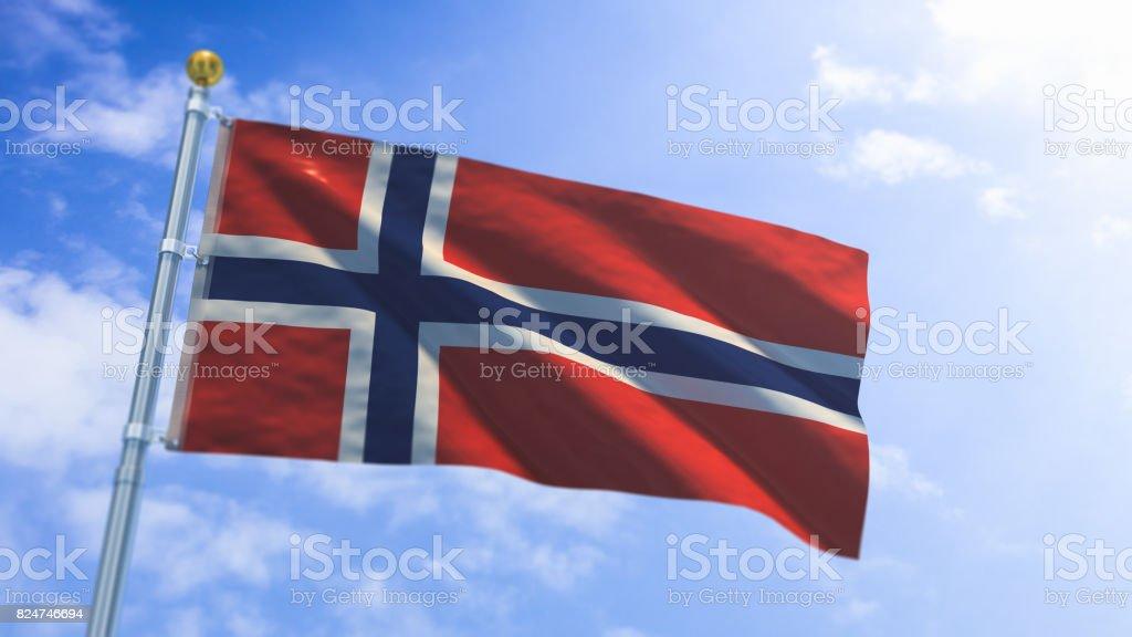 Norway Flag - fotografia de stock
