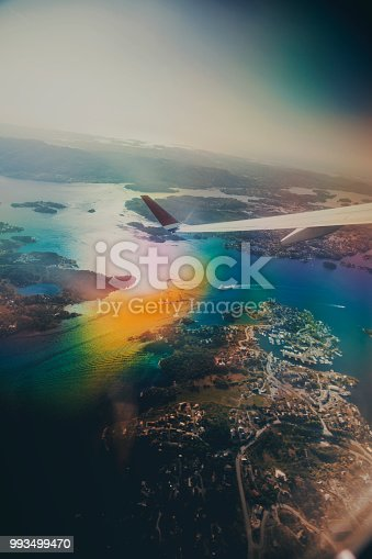 621114928istockphoto Norway from the plane 993499470