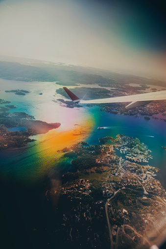 621114928 istock photo Norway from the plane 993499470