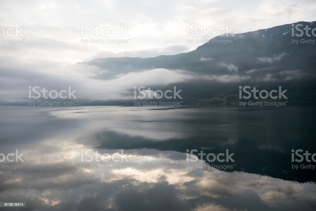 Norway - ideal fjord reflection in clear water royalty-free stock photo