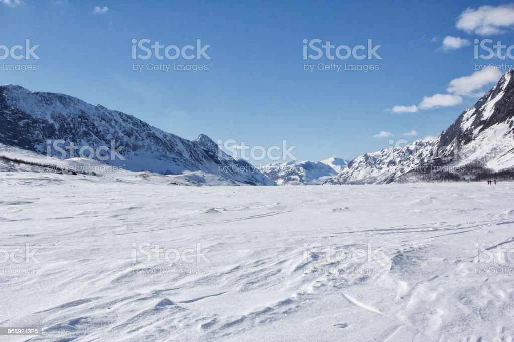 Norway in winter stock photo