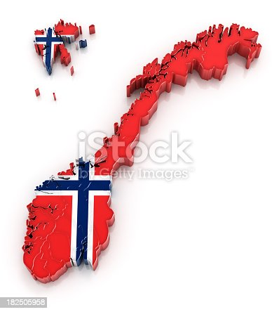 istock Norway map with flag 182505958