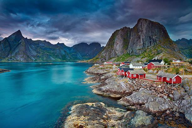 Norway. Image of Lofoten Islands, Norway during beautiful sunset. lofoten stock pictures, royalty-free photos & images