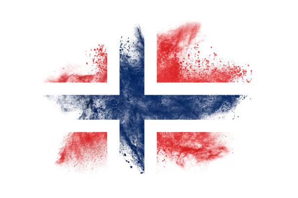 noorwegen - noorse vlag stockfoto's en -beelden