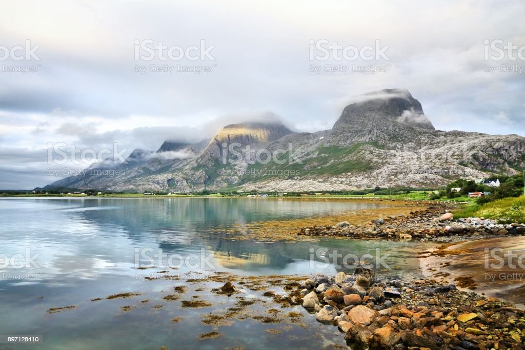 Norway - Seven Sisters stock photo