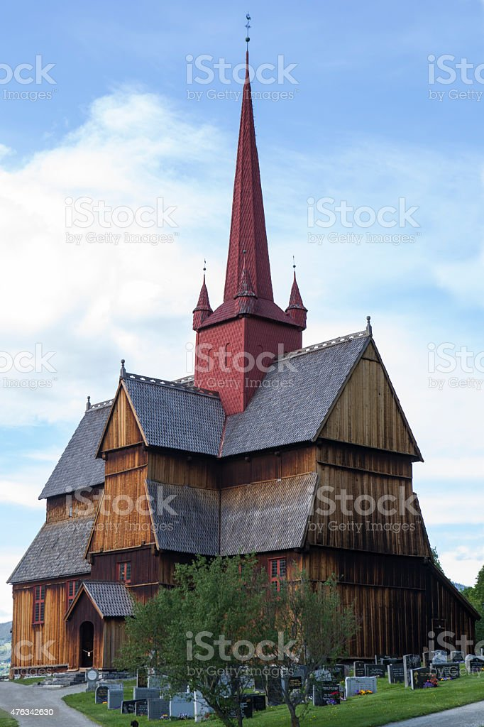 Norway - Stave Church stock photo