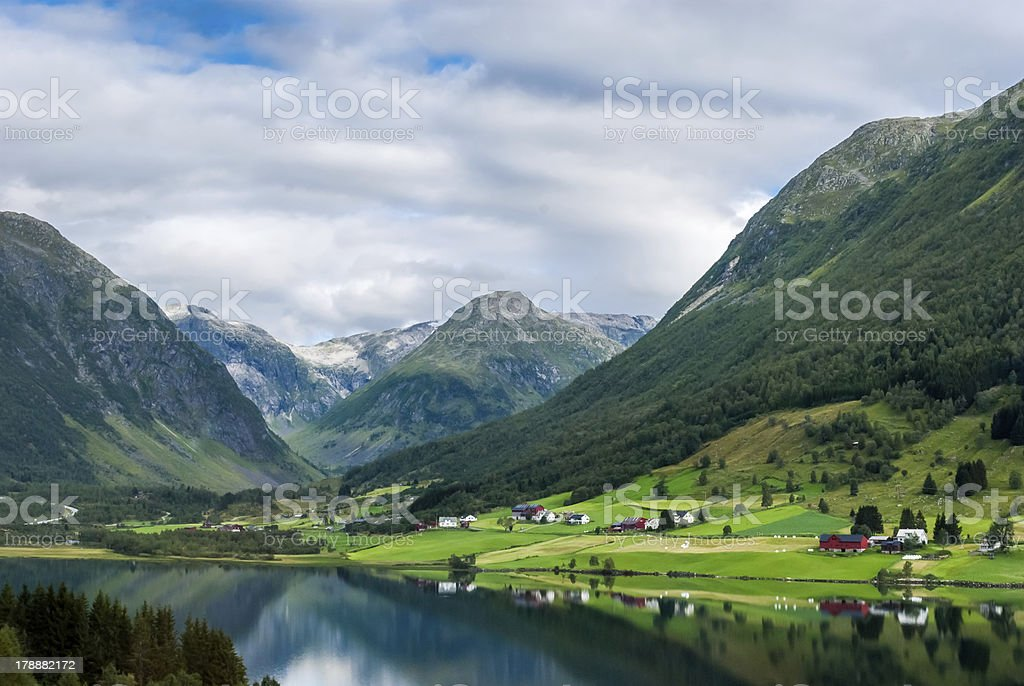 Norway, stunning landscape royalty-free stock photo