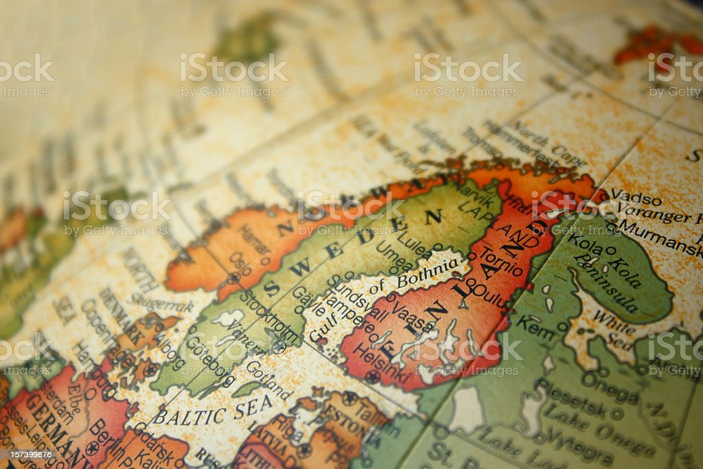 Norway Sweden and Finland stock photo