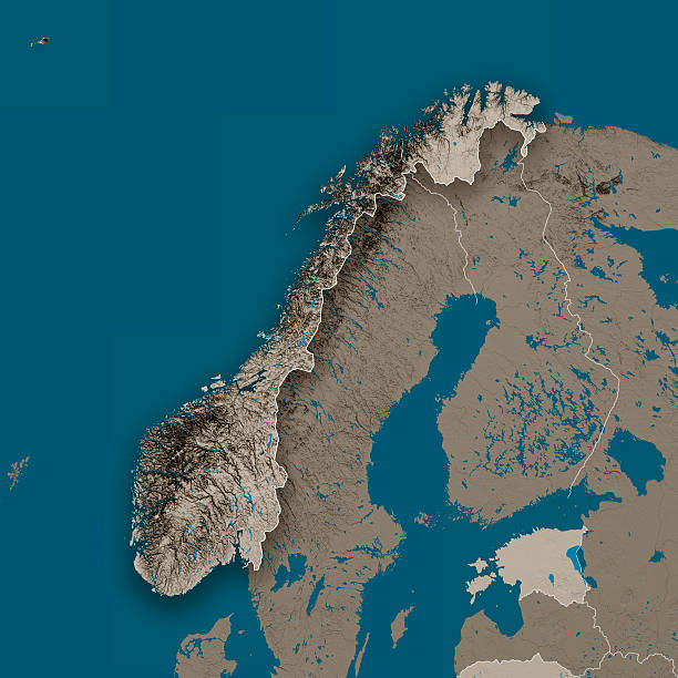 Topographic Map Of Norway.Royalty Free Norway Topographic Map Pictures Images And Stock