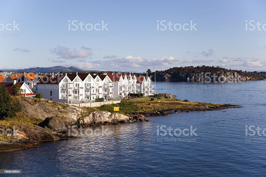 Norway town royalty-free stock photo