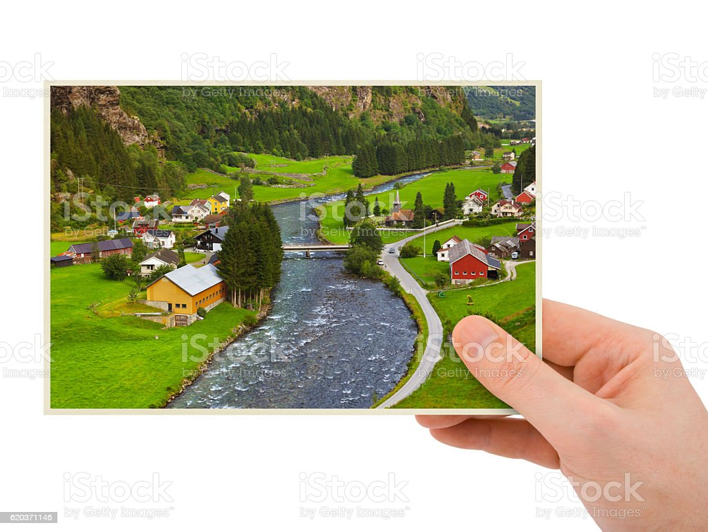 Norwegia podróży fotografia w rękę (Moje zdjęcie zbiór zdjęć royalty-free