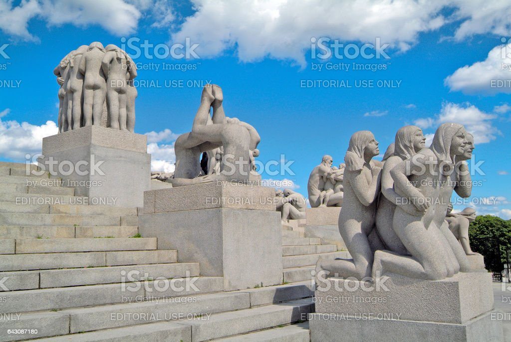 Norway, Vigeland Park stock photo