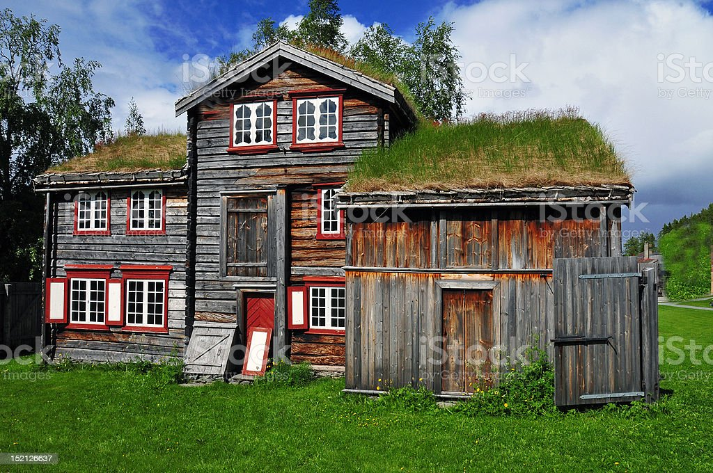 Norway`s Old House stock photo