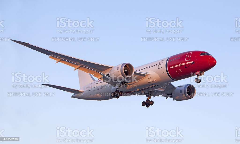 Norwegian Air Boeing 787 Dreamliner stock photo