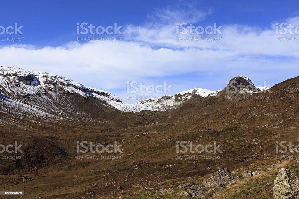 Norwegian autumn landscape royalty-free stock photo