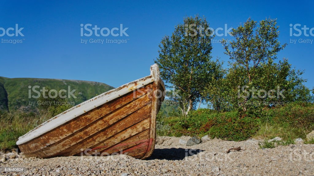 A norwegian boat, one of millions - Royalty-free Horizontal Stock Photo