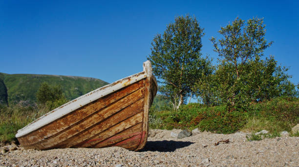 A norwegian boat, one of millions stock photo