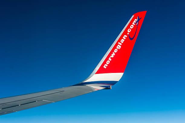 Norwegian Boeing 737 - winglet stock photo