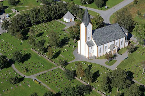 Norwegian Church stock photo