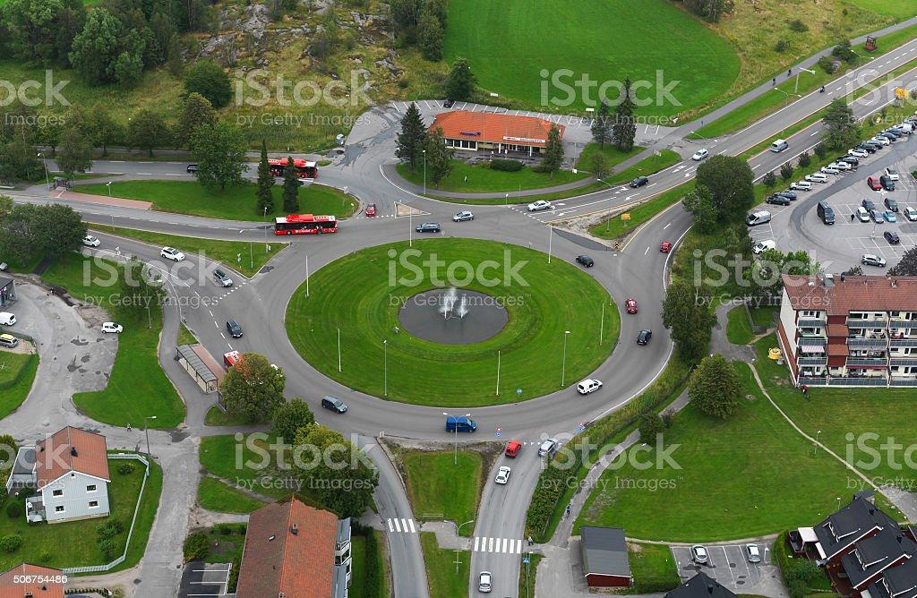 Norwegian City, Fredrikstad stock photo