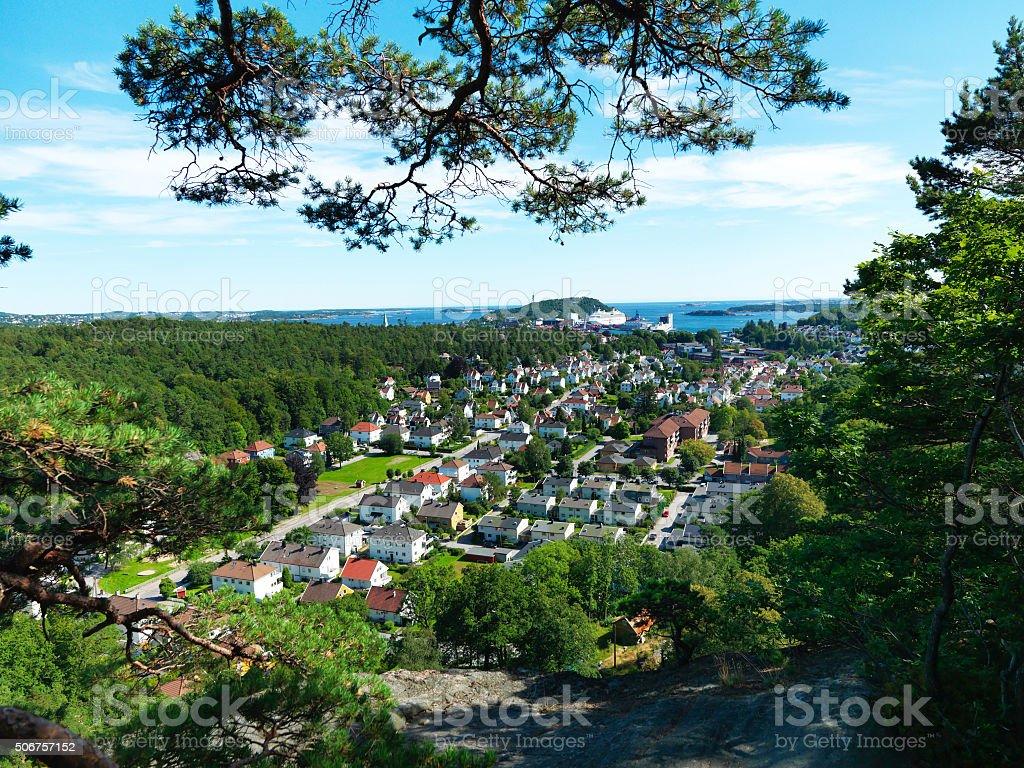 Norwegian City, Kristiansand stock photo
