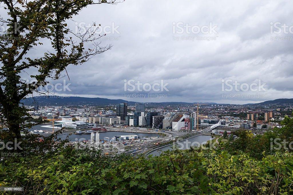 Norwegian city, Oslo stock photo