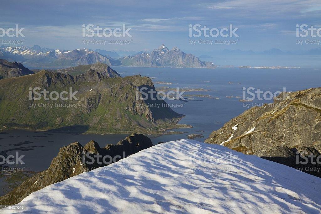 Norwegian coast royalty-free stock photo